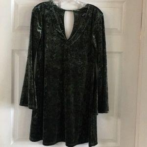 ANA Olive Bell Sleeve Dress
